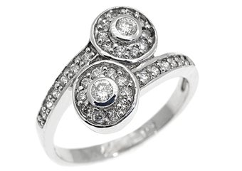 3/5 CARAT WOMENS BRILLIANT ROUND CUT DIAMOND ENGAGEMENT RING 14K WHITE GOLD