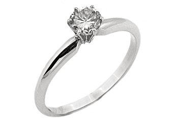 .63 CARAT SOLITAIRE BRILLIANT ROUND CUT DIAMOND PROMISE RING WHITE GOLD G COLOR