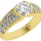 2 CARAT WOMENS DIAMOND ENGAGEMENT WEDDING RING BRILLIANT ROUND CUT YELLOW GOLD