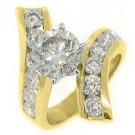5 CARAT WOMENS DIAMOND ENGAGEMENT WEDDING RING BRILLIANT ROUND CUT YELLOW GOLD