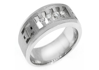 MENS 1/4 CARAT BRILLIANT ROUND CUT DIAMOND RING WEDDING BAND 14KT WHITE GOLD