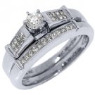 1/2CT WOMENS DIAMOND ENGAGEMENT RING WEDDING BAND BRIDAL SET ROUND WHITE GOLD