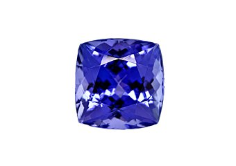 Cushion Cut Shape Deep Blue AAA Tanzanite 7mm 1.85 Carat Loose Gem Stone