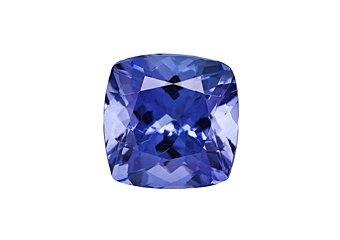 Cushion Cut Shape Blue AA Tanzanite 6mm 1.00 Carat Loose Gem Stone