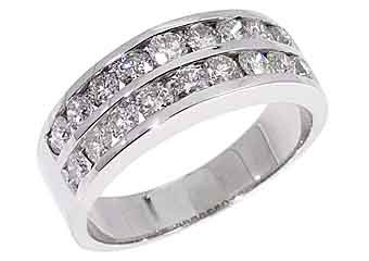 MENS 2 CARAT BRILLIANT ROUND CUT DIAMOND RING WEDDING BAND 14KT WHITE  GOLD