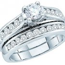 WOMENS DIAMOND ENGAGEMENT RING WEDDING BAND BRIDAL SET ROUND CUT 1.45 CARAT