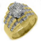 3 CARAT WOMENS DIAMOND ENGAGEMENT WEDDING RING ROUND PRINCESS CUT YELLOW GOLD