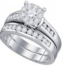 WOMENS DIAMOND ENGAGEMENT RING WEDDING BAND BRIDAL SET ROUND CUT .94 CARAT