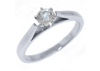 2/5 CARAT WOMENS SOLITAIRE BRILLIANT ROUND DIAMOND ENGAGEMENT RING WHITE GOLD