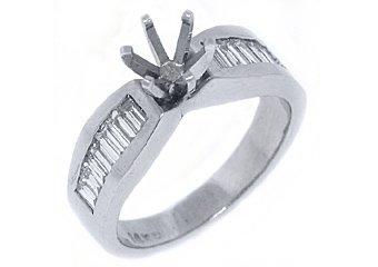 .70 CARAT WOMENS DIAMOND ENGAGEMENT RING SEMI-MOUNT BAGUETTE CUT WHITE GOLD