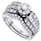 WOMENS DIAMOND ENGAGEMENT RING WEDDING BAND BRIDAL SET 1.39 CARAT ROUND CUT