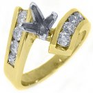 .78 CARAT WOMENS DIAMOND ENGAGEMENT RING SEMI-MOUNT ROUND CUT YELLOW GOLD