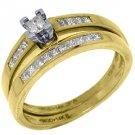 WOMENS DIAMOND ENGAGEMENT PROMISE RING WEDDING BAND BRIDAL SET SQUARE CUT