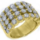 5.28 CARAT WOMENS BRILLIANT ROUND CUT DIAMOND RING WEDDING BAND YELLOW GOLD