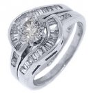 2 CARAT WOMENS DIAMOND ENGAGEMENT RING WEDDING BAND BRIDAL SET ROUND WHITE GOLD