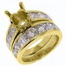 3.32 CARAT WOMENS DIAMOND ENGAGEMENT RING WEDDING BAND BRIDAL SET ROUND CUT