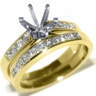 .75 CARAT WOMENS DIAMOND ENGAGEMENT RING SEMI-MOUNT SET ROUND CUT YELLOW GOLD