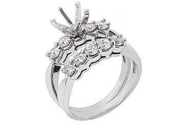 1.18 CARAT WOMENS DIAMOND ENGAGEMENT RING SEMI-MOUNT SET ROUND CUT WHITE GOLD
