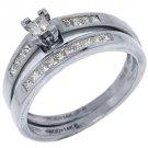 DIAMOND ENGAGEMENT RING BAND PROMISE WEDDING BRIDAL SET PRINCESS CUT