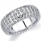 DIAMOND ETERNITY BAND WEDDING RING ROUND WHITE GOLD 2.7 CARATS VERTICAL LINE