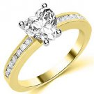 1.3 CARAT WOMENS DIAMOND ENGAGEMENT WEDDING RING HEART CUT SHAPE YELLOW GOLD