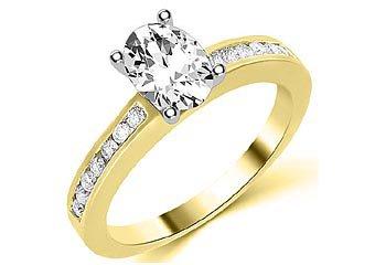 1.3 CARAT WOMENS DIAMOND ENGAGEMENT WEDDING RING OVAL SHAPE YELLOW GOLD