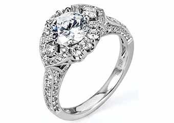 WOMENS DIAMOND ENGAGEMENT HALO RING ROUND CUT 1.87 CARAT 18K WHITE GOLD