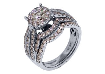 2 CARAT DIAMOND ENGAGEMENT RING WEDDING BAND BRIDAL SET ROUND WHITE GOLD