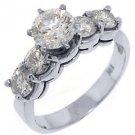 2.2 CARAT WOMENS DIAMOND ENGAGEMENT WEDDING RING BRILLIANT ROUND CUT WHITE GOLD
