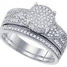 WOMENS DIAMOND ENGAGEMENT RING WEDDING BAND BRIDAL SET BRILLIANT ROUND CUT