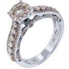 2 CARAT BRILLIANT ROUND CUT DIAMOND ENGAGEMENT RING  ILLUSION SET WHITE GOLD