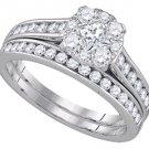 WOMENS DIAMOND ENGAGEMENT RING WEDDING BAND BRIDAL SET ROUND CUT
