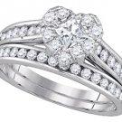 WOMENS DIAMOND ENGAGEMENT RING WEDDING BAND BRIDAL SET HEART SHAPE