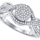 .33 CARAT WOMENS DIAMOND ENGAGEMENT RING BRILLIANT ROUND 10K WHITE GOLD
