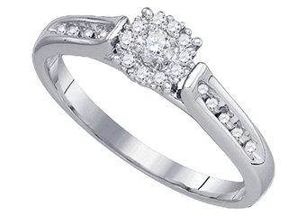 .25 CARAT WOMENS DIAMOND ENGAGEMENT RING BRILLIANT ROUND 14K WHITE GOLD