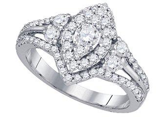 1.01 CARAT WOMENS DIAMOND ENGAGEMENT RING MARQUISE CUT SHAPE WHITE GOLD