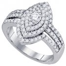 1.03 CARAT WOMENS DIAMOND ENGAGEMENT RING MARQUISE CUT SHAPE WHITE GOLD