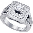 1 CARAT WOMENS DIAMOND ENGAGEMENT RING BRILLIANT ROUND CUT WHITE GOLD