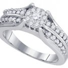 .68 CARAT WOMENS DIAMOND ENGAGEMENT RING BRILLIANT ROUND CUT WHITE GOLD