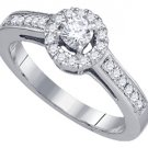 .51 CARAT WOMENS DIAMOND ENGAGEMENT HALO RING BRILLIANT ROUND CUT WHITE GOLD
