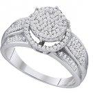 .40 CARAT WOMENS DIAMOND ENGAGEMENT HALO RING BRILLIANT ROUND CUT WHITE GOLD