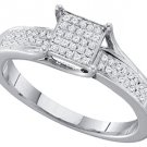 .15 CARAT WOMENS DIAMOND ENGAGEMENT RING PRINCESS CUT SQUARE WHITE GOLD