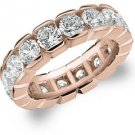 DIAMOND ETERNITY BAND WEDDING RING ROUND 14KT ROSE GOLD 5.00 CARAT BOX SETTING
