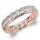 DIAMOND ETERNITY BAND WEDDING RING ROUND 14KT ROSE GOLD 2.00 CARAT BOX SETTING