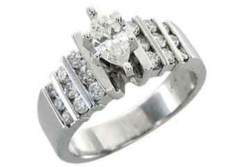 1.25 CARAT WOMENS DIAMOND ENGAGEMENT WEDDING RING MARQUISE ROUND CUT WHITE GOLD