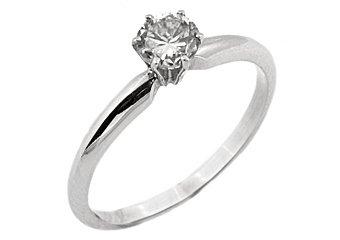 1/5 CARAT SOLITAIRE BRILLIANT ROUND CUT DIAMOND PROMISE RING WHITE GOLD SI2-3/G