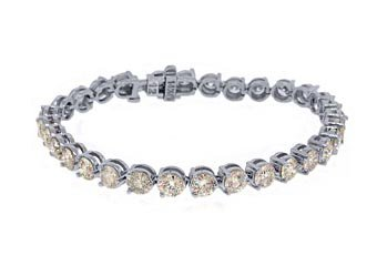 "WOMENS DIAMOND TENNIS LINK BRACELET 12.50 CARAT ROUND CUT WHITE GOLD 7"" INCH"