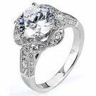 WOMENS DIAMOND ENGAGEMENT HALO RING ROUND CUT 1.83 CARAT 18K WHITE GOLD