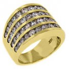 3.28 CARAT WOMENS BRILLIANT ROUND CUT DIAMOND RING WEDDING BAND YELLOW GOLD