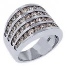 3.28 CARAT WOMENS BRILLIANT ROUND CUT DIAMOND RING WEDDING BAND WHITE GOLD
